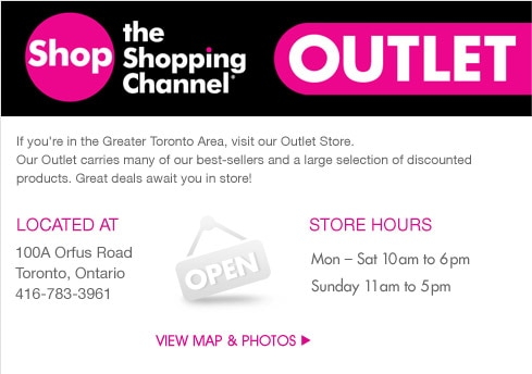 Outlet Store Map