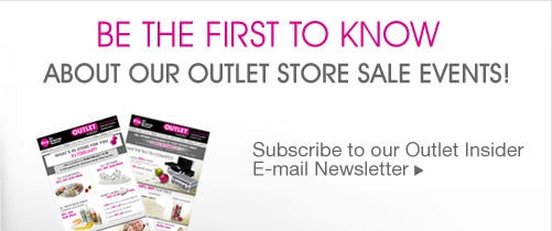 Outlet Insider E-mail Newsletter