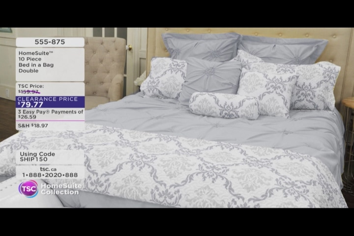 homesuite collection 10piece bed in a bag video1 of item